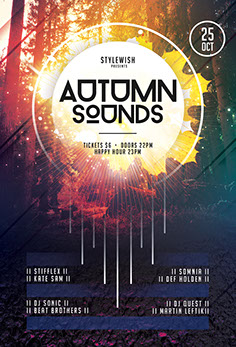 Autumn Sounds Flyer Template