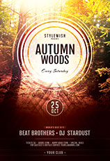 Autumn Woods Flyer Template