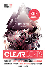 Clear Beats Party Flyer