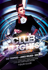 Club Flights Party Flyer Template