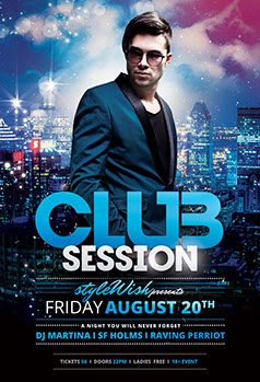Club Sessions Party Flyer