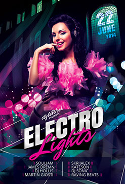 Electro Lights Flyer Template
