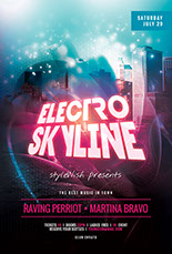 Electro Skyline Flyer Template