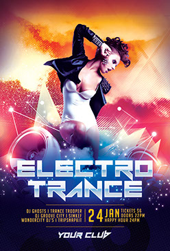 Electro Trance Party Flyer Template
