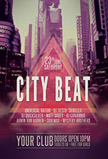 City Beat Party Flyer