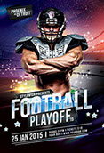 Football Playoff Flyer Template