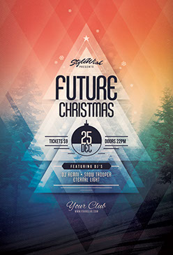 Future Christmas Flyer Template