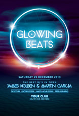 Glowing Beats Party Flyer