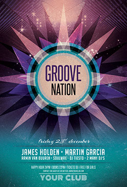 Groove Nation Party Flyer Template