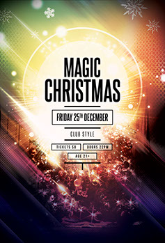 Magic Christmas Flyer Template