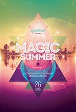 Magic Summer Flyer Template