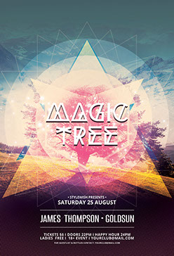 Magic Tree Flyer Template