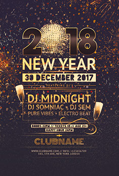2016 NYE Flyer Template