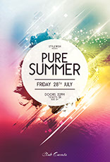 Pure Summer Flyer Template
