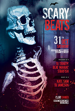 Scary Beats Flyer Template