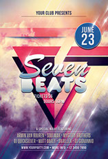 Seven Beats Party Flyer