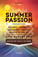 Summer Passion Music Flyer