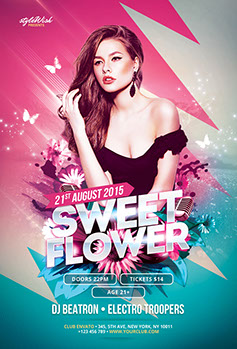 Sweet Flower Flyer Template