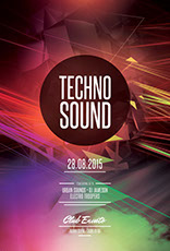 Techno Sound Flyer Template