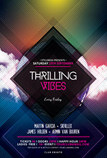 Thrilling Vibes Party Flyer