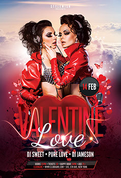 Valentine Love Flyer Template