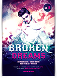 Broken Dreams Party Flyer
