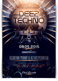 Deep Techno Flyer