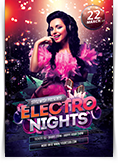Electro Nights Party Flyer