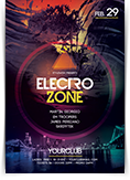Electro Zone Party Flyer