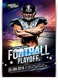 Football Playoff Flyer