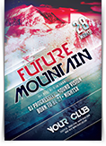 Future Mountain Party Flyer