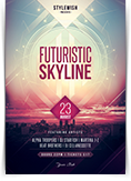 Futuristic Skyline Flyer