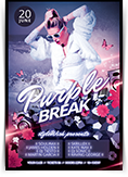 Purple Break Flyer