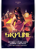 Skyline Party Flyer