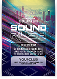 Sound Rush Party Flyer