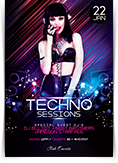 Techno Sessions Flyer