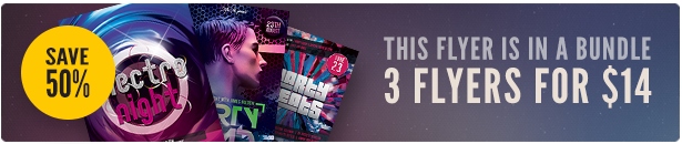 Electro Party Flyer Bundle Vol3