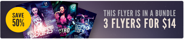 Electro Party Flyer Bundle Vol.07
