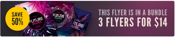 Future Party Flyer Bundle Vol3